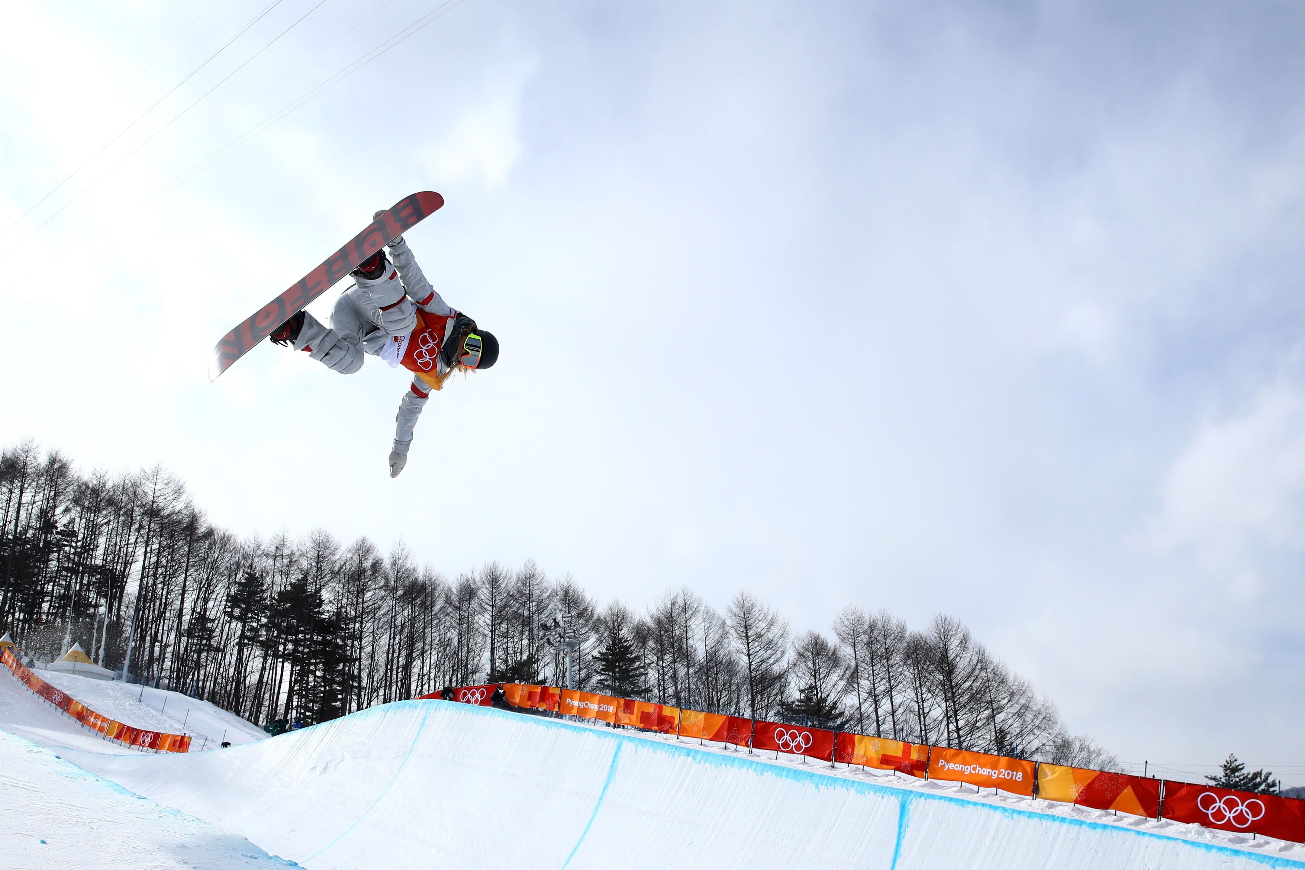 Chloe Kim competes in the halfpipe qualifying at the Phoenix Snow Park Monday. (Getty Images - Cameron Spencer)