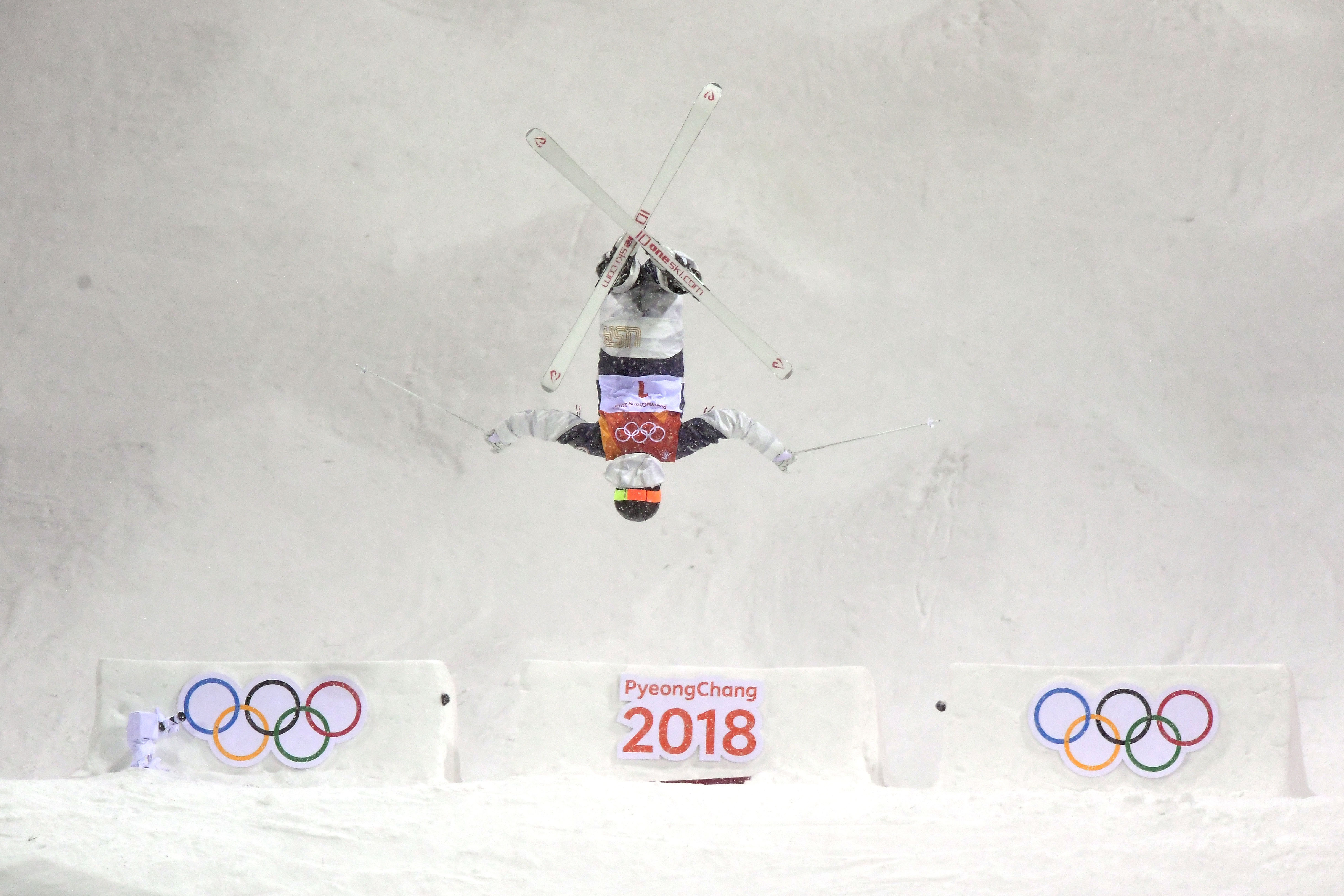 Jaelin Kauf finished seventh in the moguls finals Sunday night at the 2018 Olympic Winter Games at Phoenix Snow Park. (Getty Images - David Ramos)