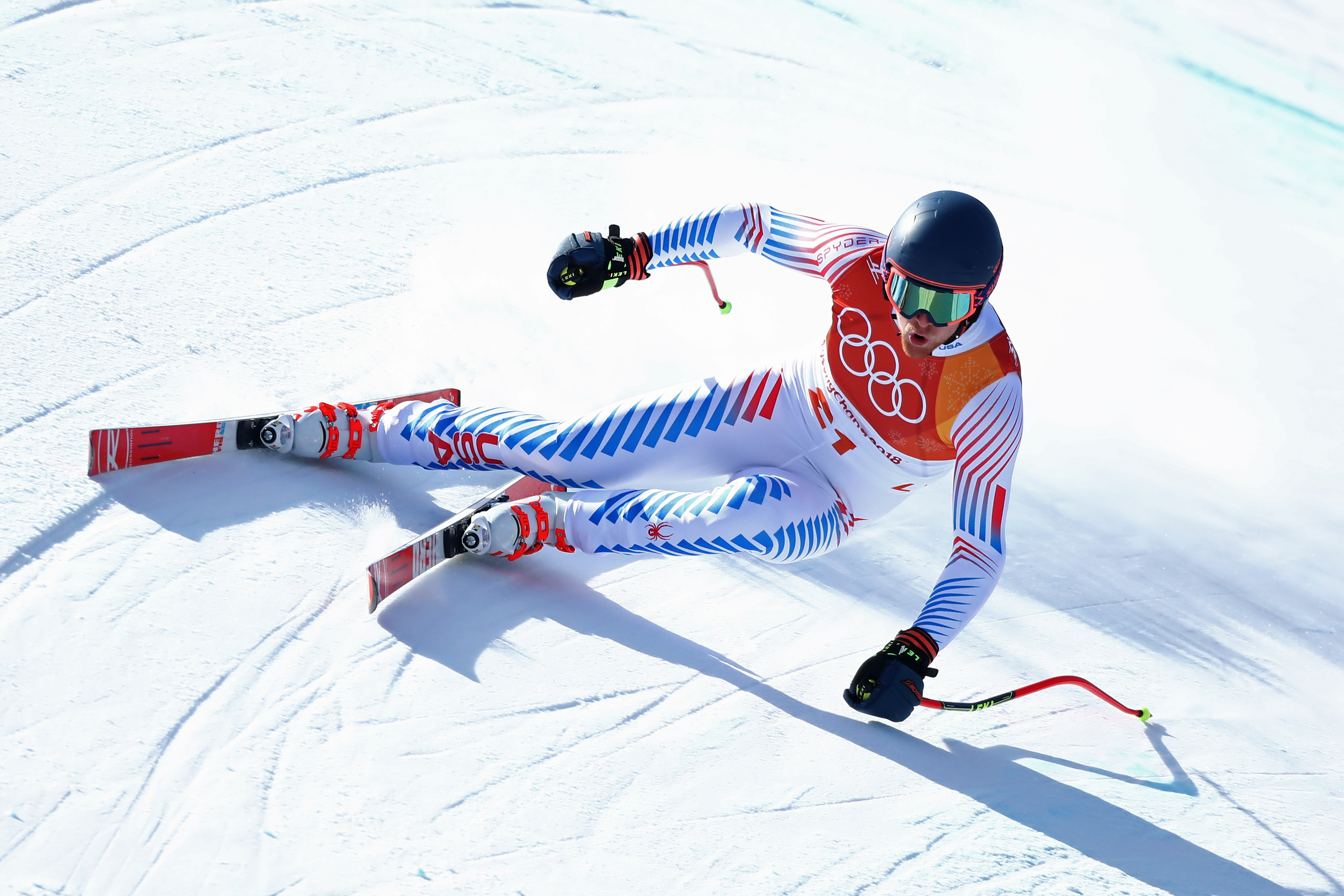 Ryan Cochran-Siegle led Team USA in 14th in super-G Friday at the Jeongseon Alpine Centre. (Getty Images - Alexander Hassenstein)