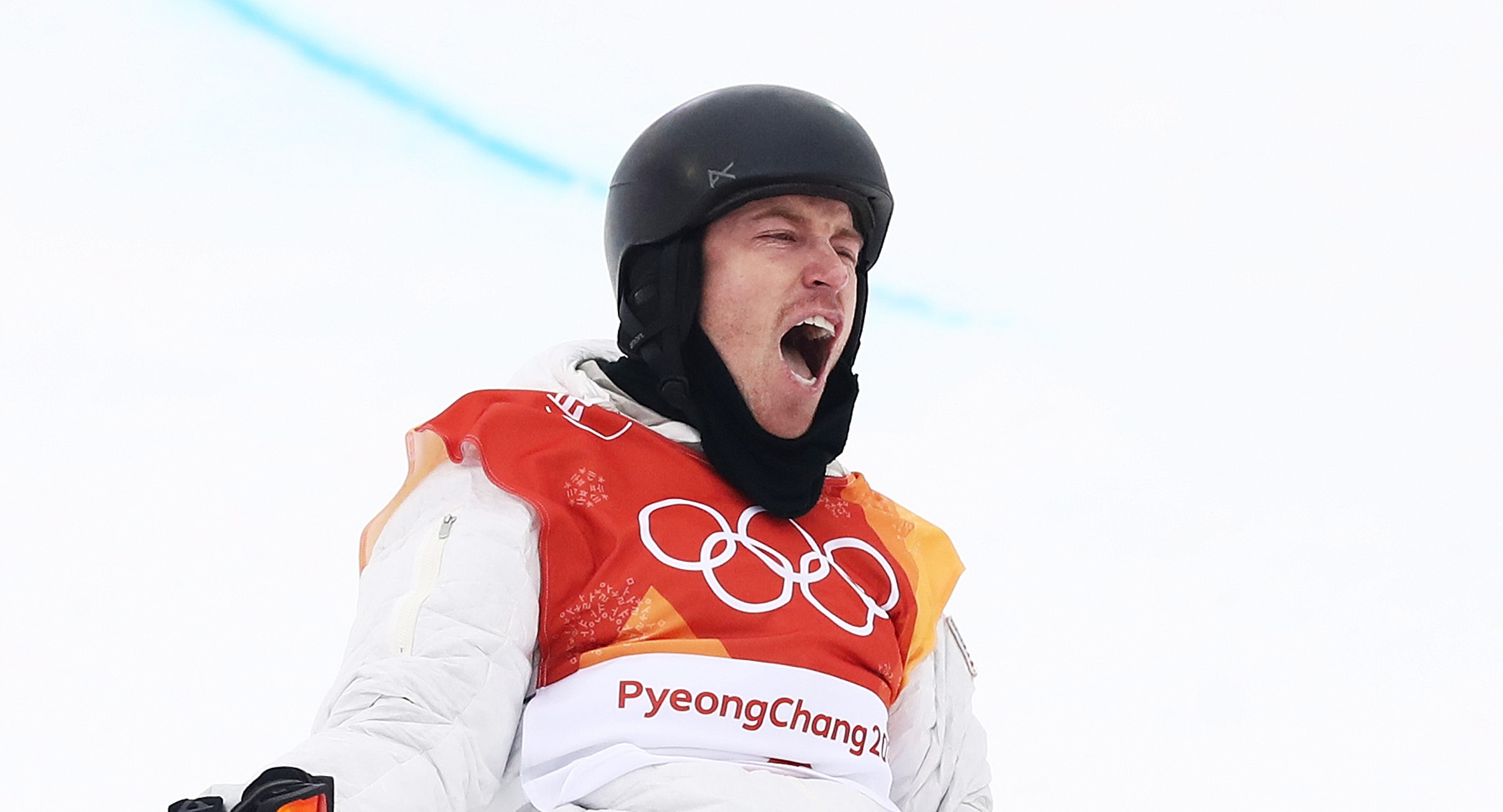 Shaun White celebrates after his third run at the halfpipe at Phoenix Snow Park. (Getty Images - Cameron Spencer)
