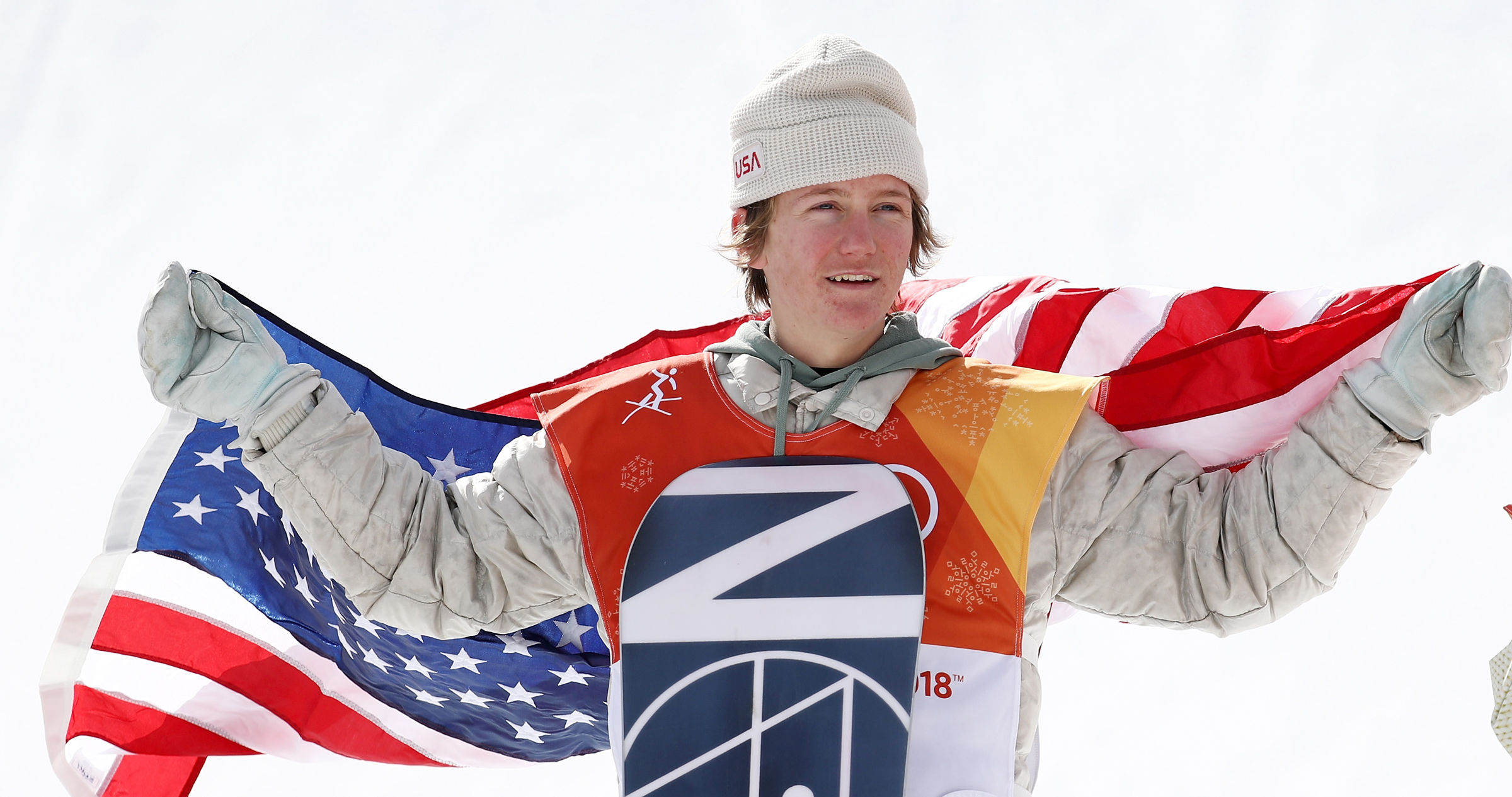 Red Gerard won the gold medal in slopestyle snowboarding Sunday at the 2018 Olympic Winter Games at Phoenix Snow Park in Pyeongchang-gun, South Korea. (Getty Images - Clive Rose)
