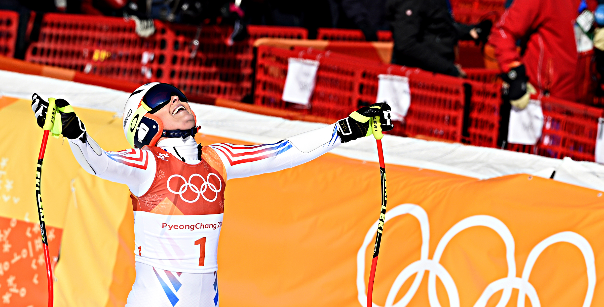 Lindsey Vonn wonders what could have been after crossing the finish line in the super-G. (Getty Images/Agence Zoom - Alain Grosclaude)