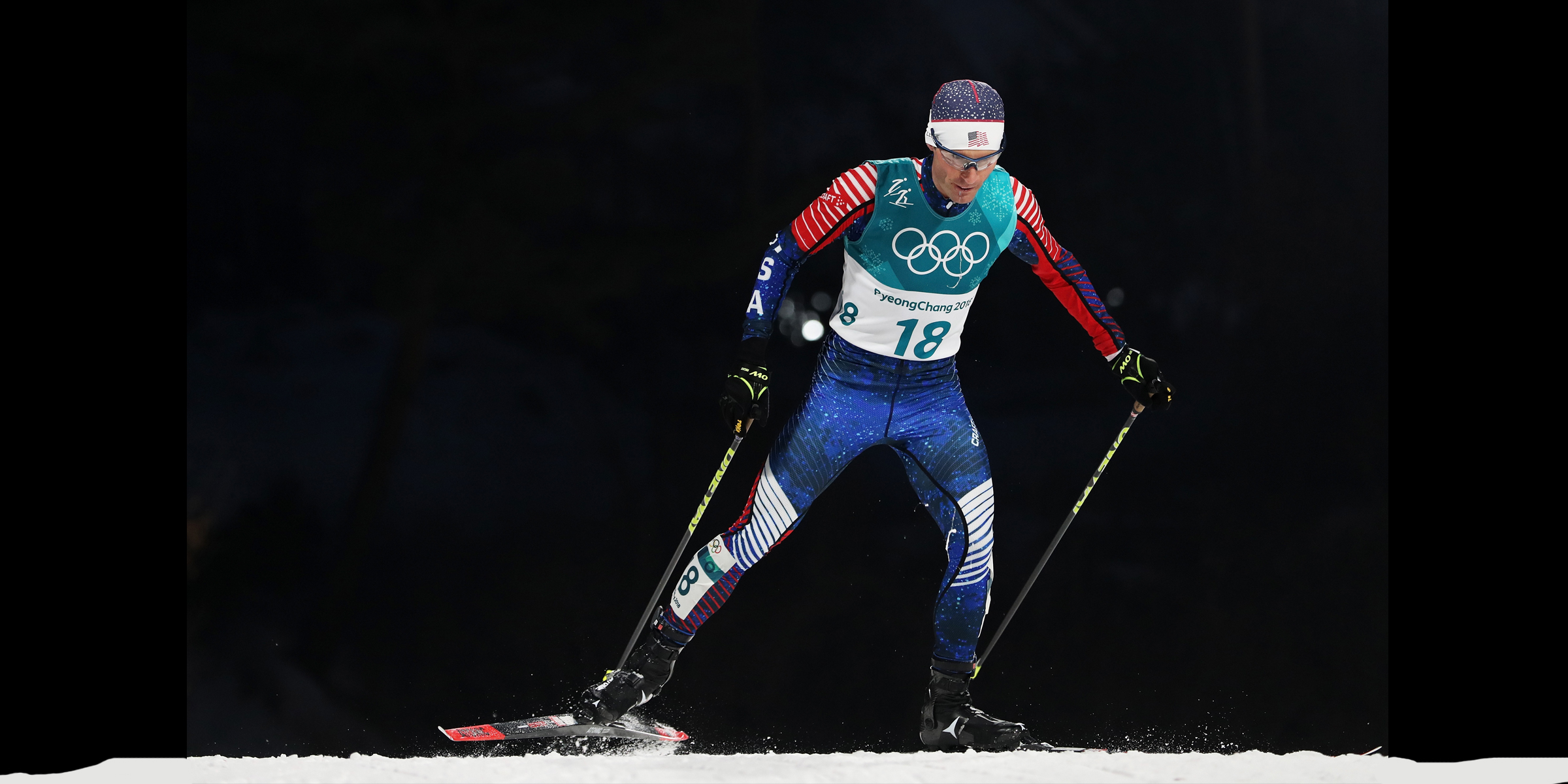 Bryan Fletcher wrapped up his final individual Olympic competition, finishing 17th Gundersen large hill/10k event. (Getty Images – Al Bello)