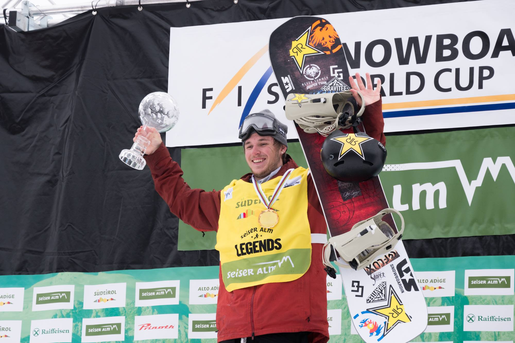 Chris Corning won the final FIS World Cup slopestyle of the season Saturday and the World Cup slopestyle crystal globe. (FIS)