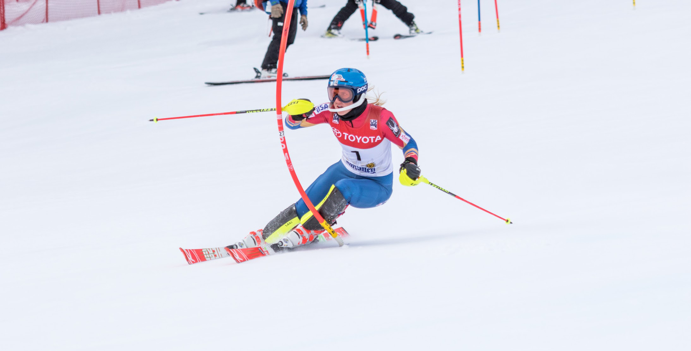 Nina O'Brien won her third U.S. National title in three separate disciplines with her slalom victory Saturday in Sun Valley, Idaho (Oliver @oliverguyphoto // Oliver Guy Photo)