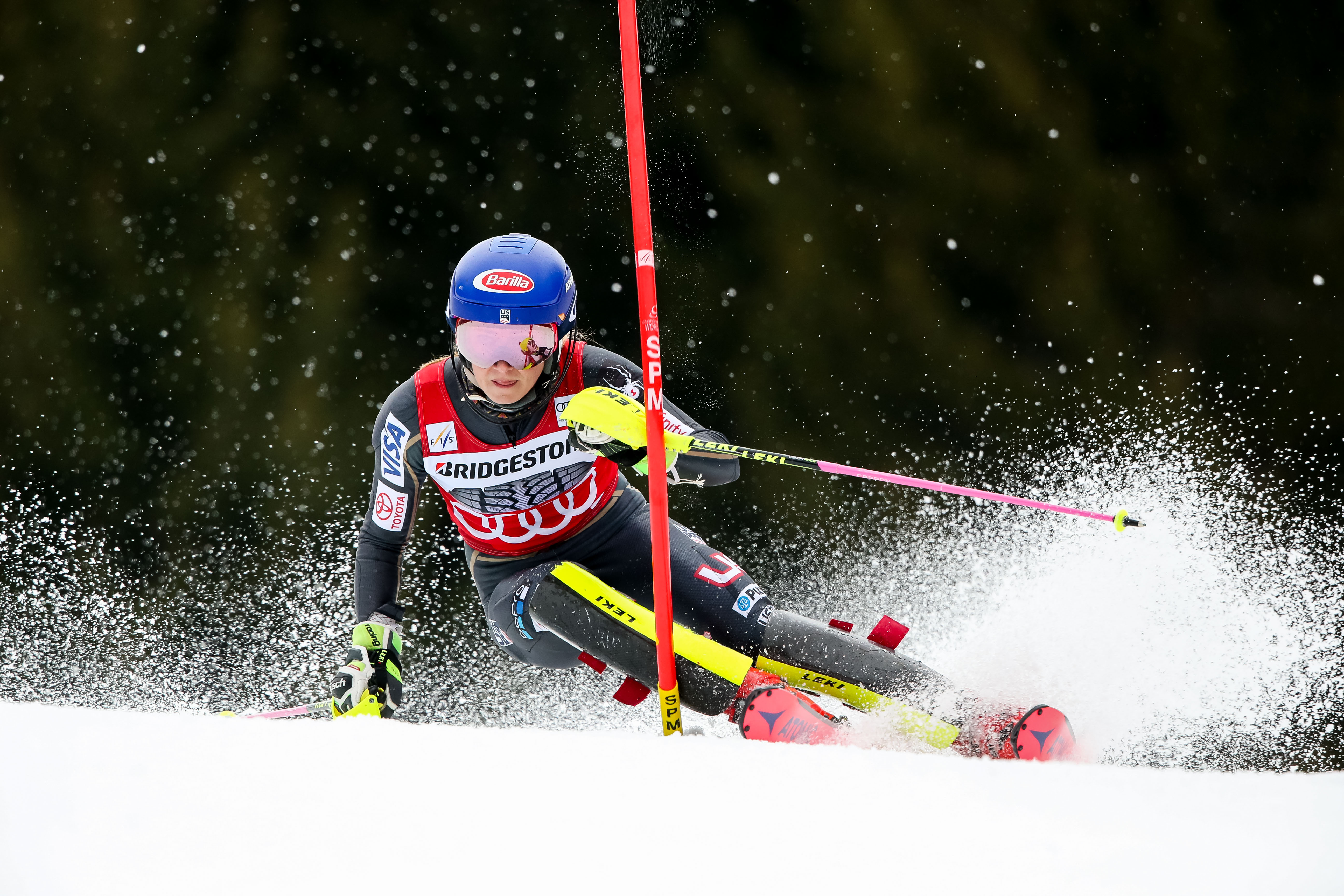 Mikaela Shiffrin won her 42nd World Cup race Saturday in Ofterschwang, Germany. (Getty Images/Agence Zoom - Christophe Pallot)