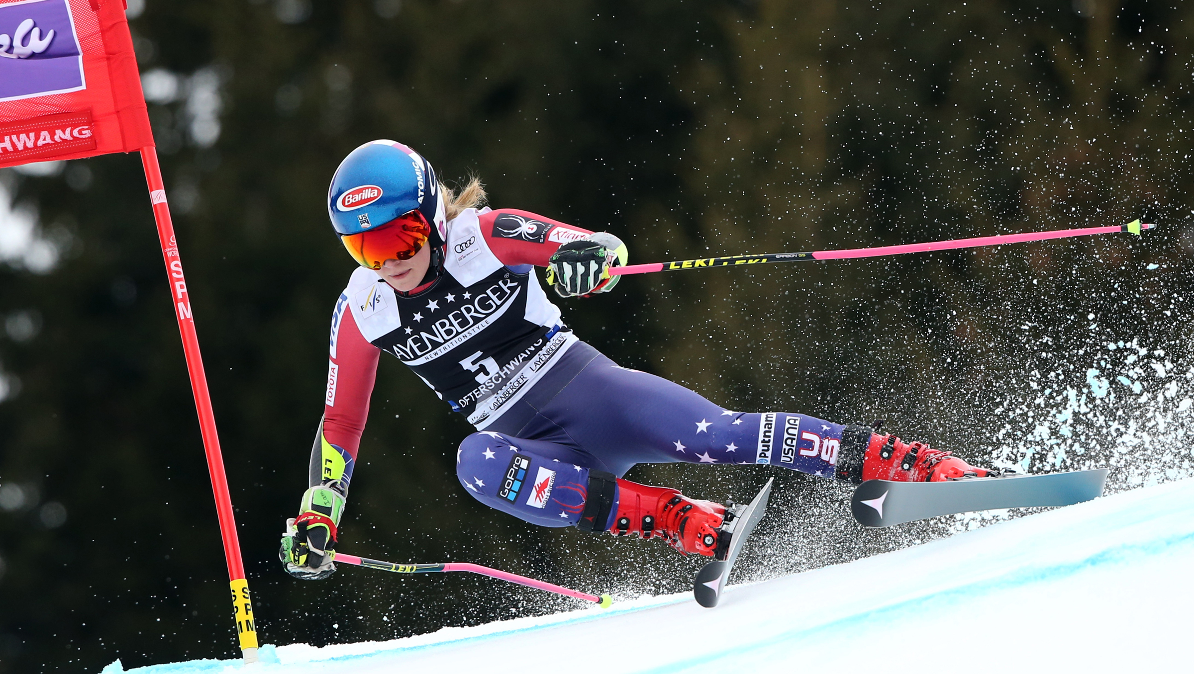Mikaela Shiffrin finished third in Friday's FIS Ski World Cup giant slalom in Ofterschwang, Germany, and wrapped up her second-consecutive overall World Cup title. (Getty Images/Agence Zoom - Christophe Pallot)