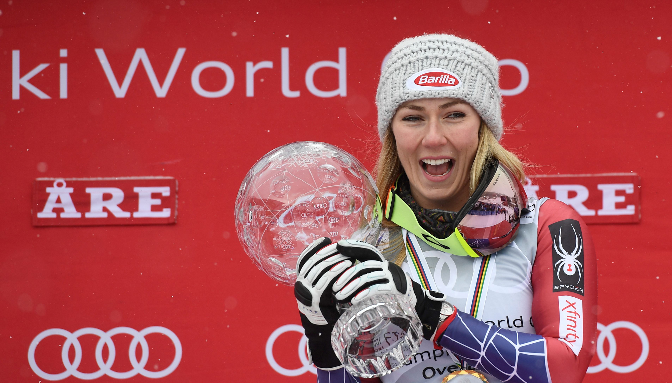 Mikaela Shiffrin won the overall World Cup title for the second-straight year. (Getty Images/Agence Zoom - Alain Grosclaude)
