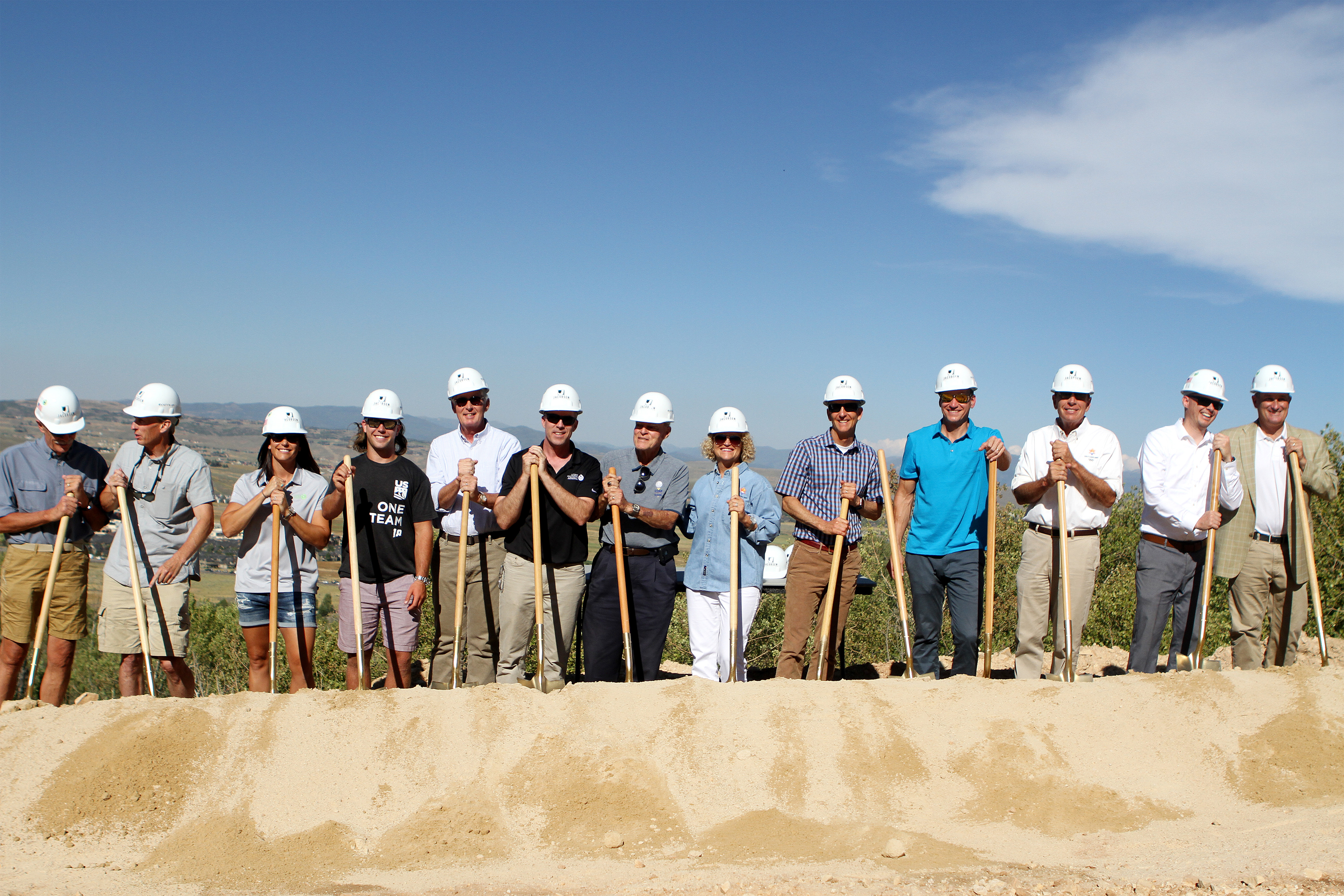 Groundingbreaking ceremony at the Utah Olympic Park