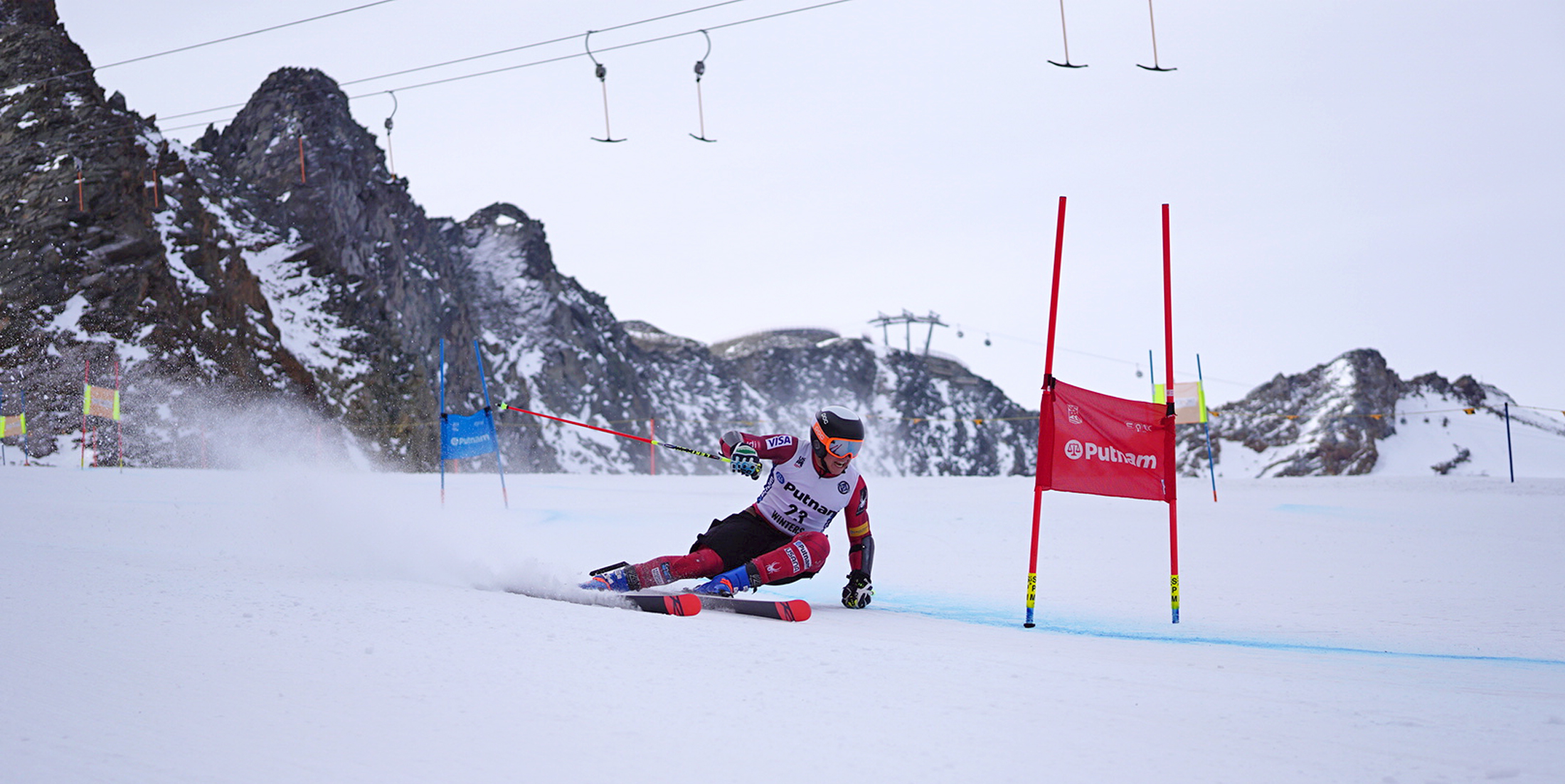 Luke Winters training in Sölden.