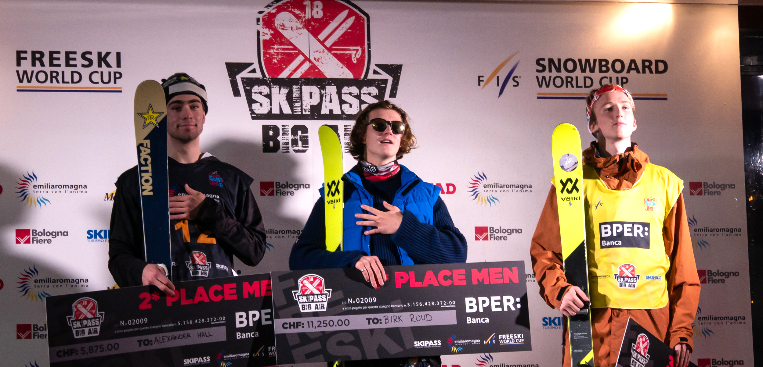Men's Big Air Podium