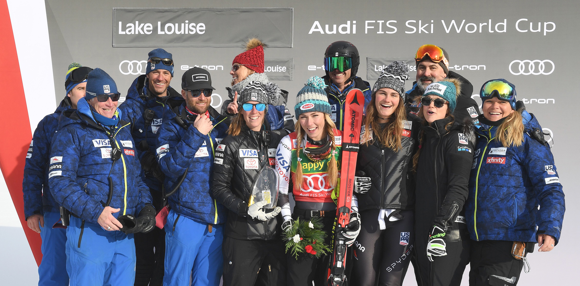 U.S. Team with Shiffrin