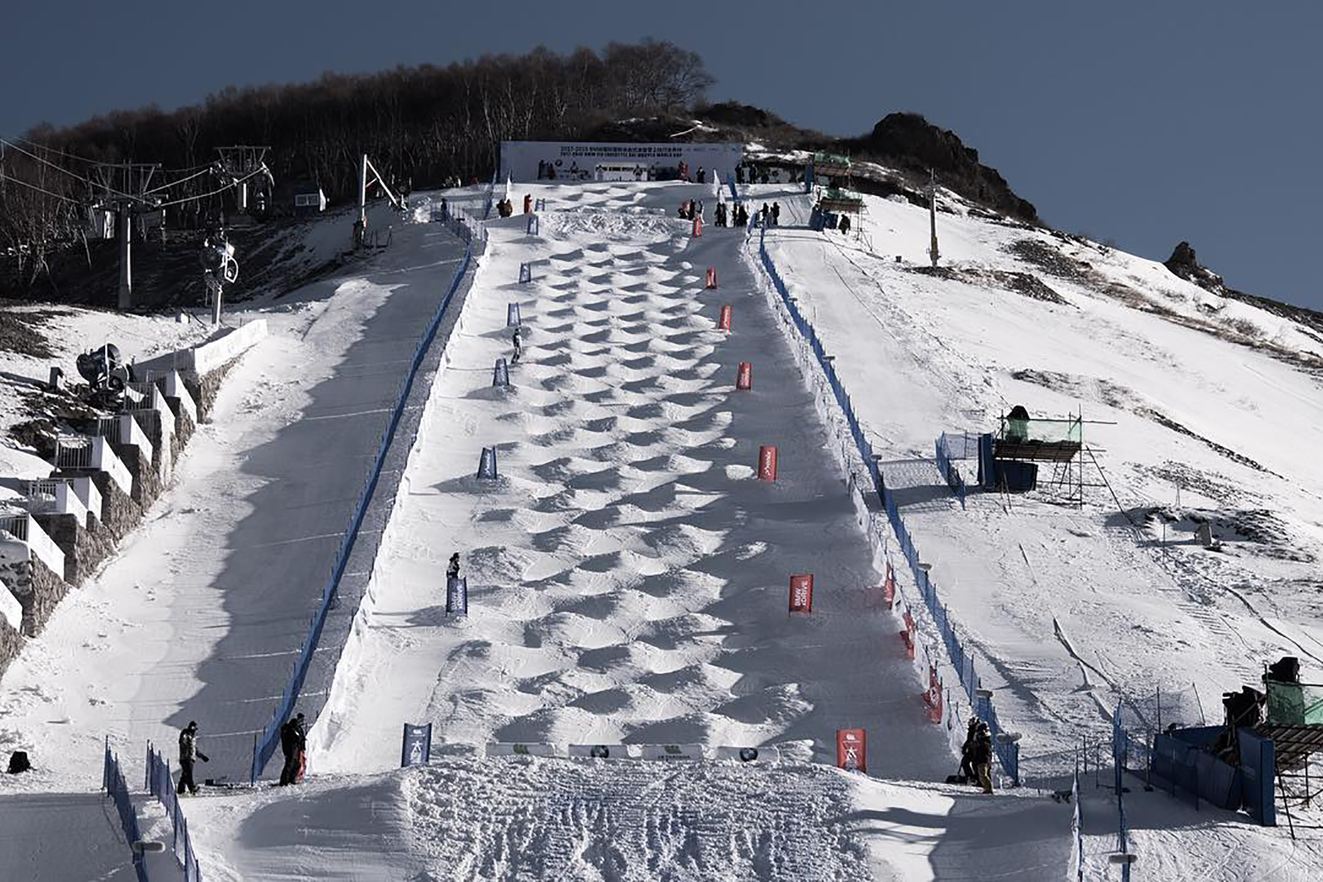 The moguls course in Thaiwoo, China
