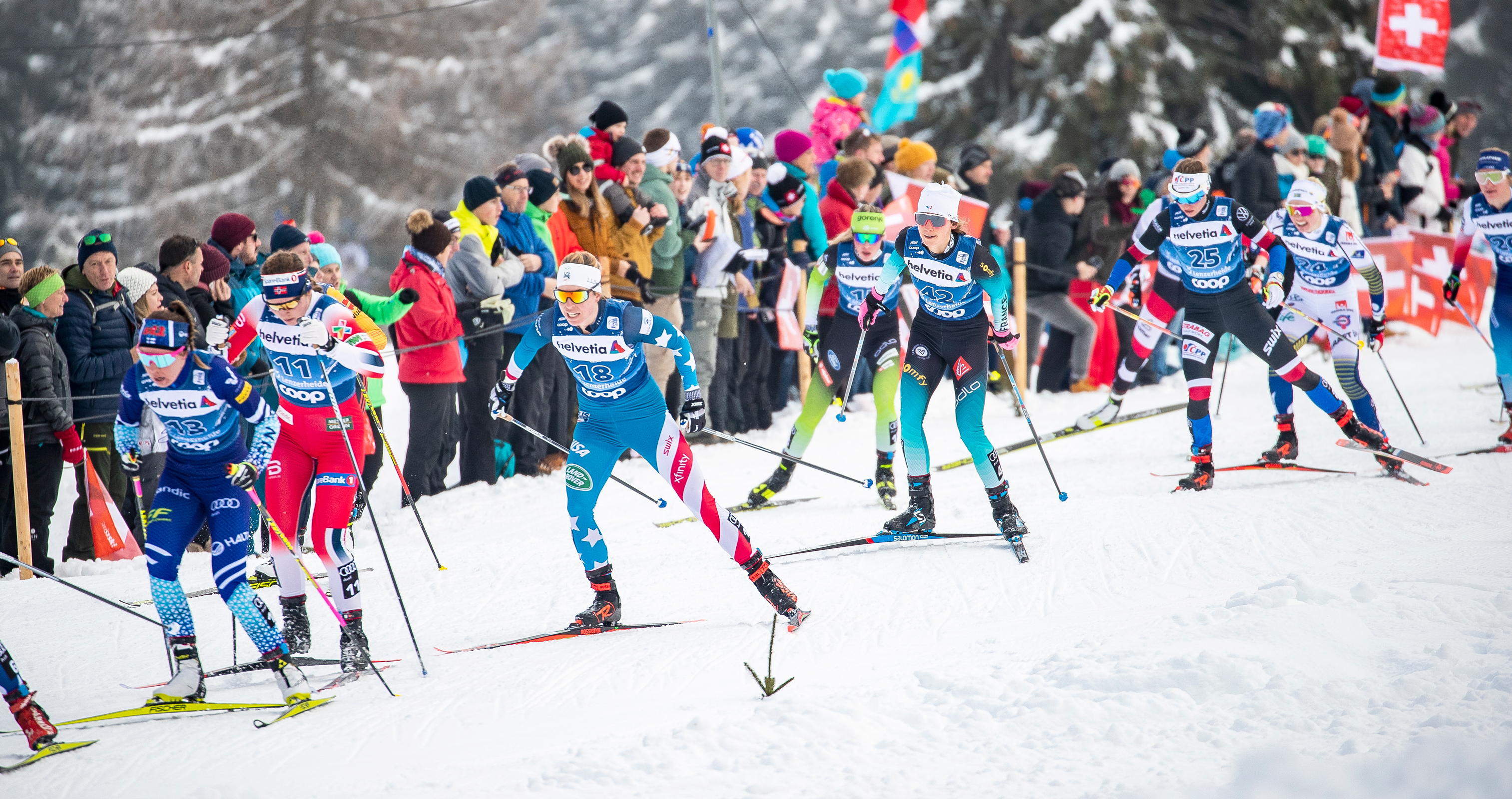 Rosie Brennan was 20th in Saturday's opening Tour de Ski stage.