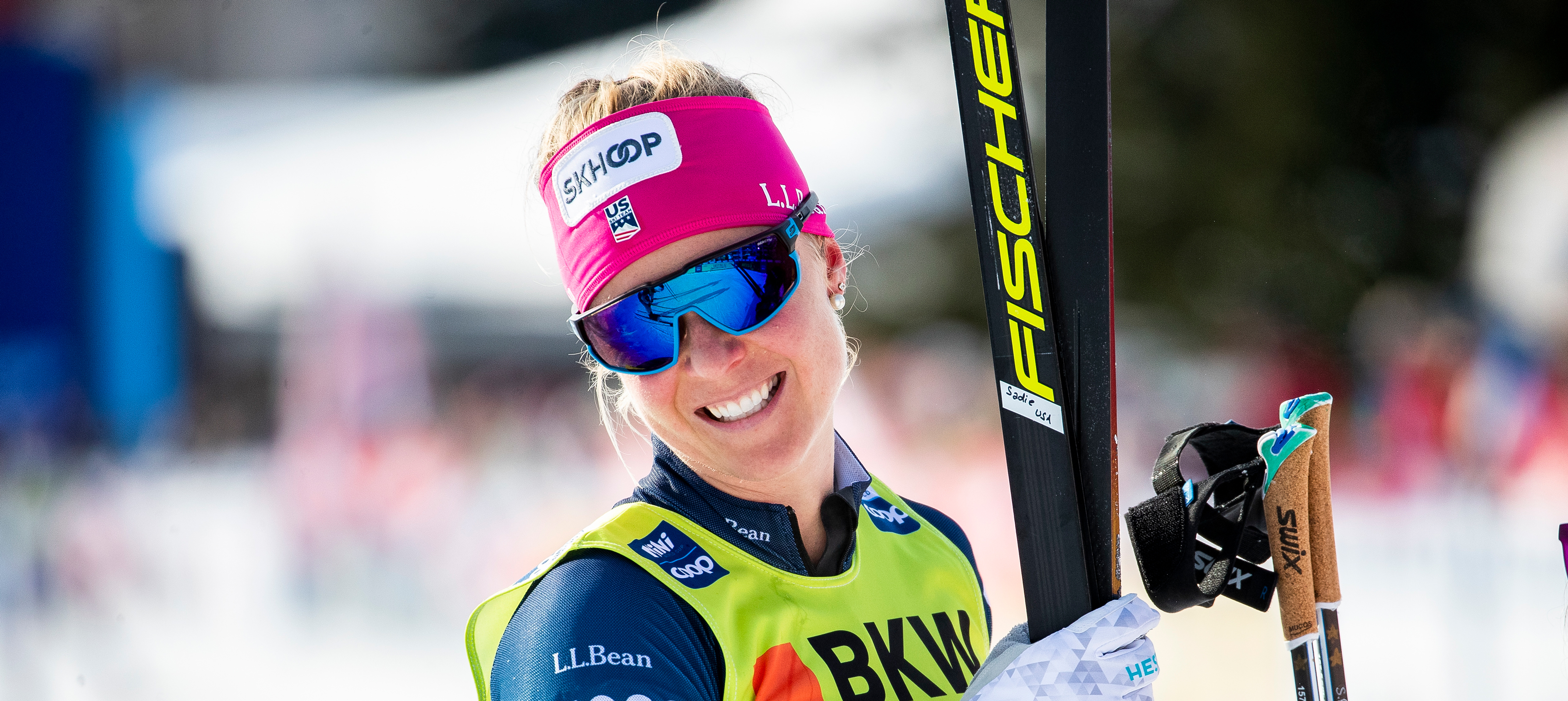 Sadie Maubet Bjornsen was the top U.S. finisher in Wednesday's fourth stage of the Tour de Ski.