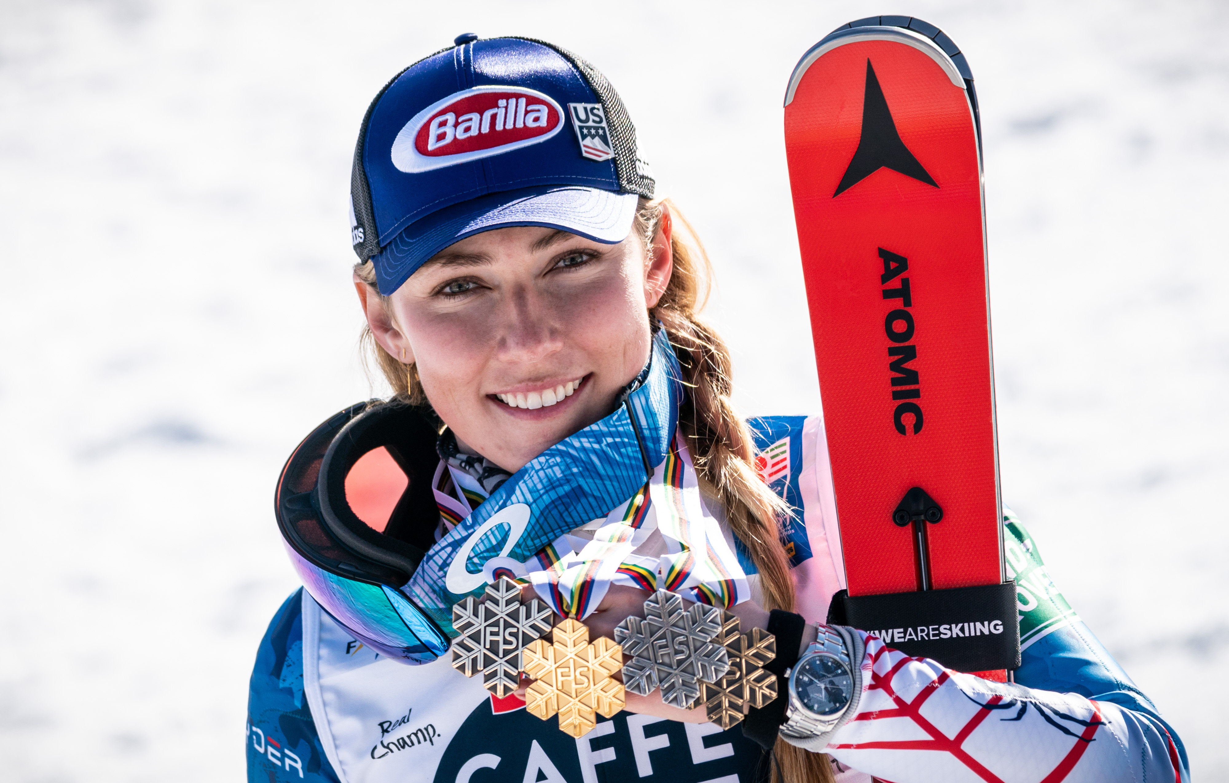 Shiffrin Cortina Four Medals