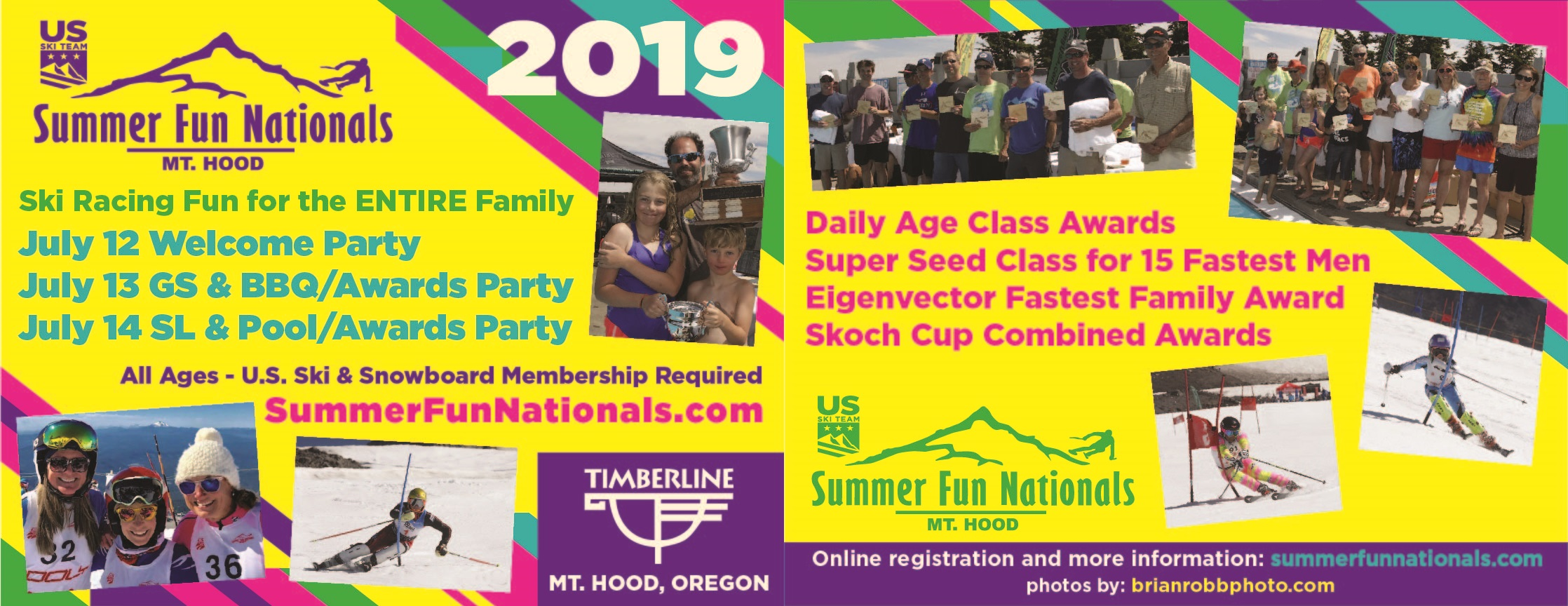 Summer Fun Nationals Flyer July 12-14, 2019