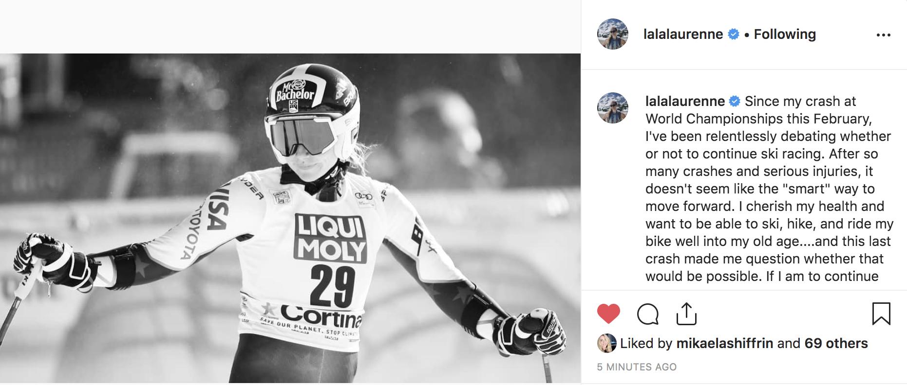 Laurenne Ross Instagram Post
