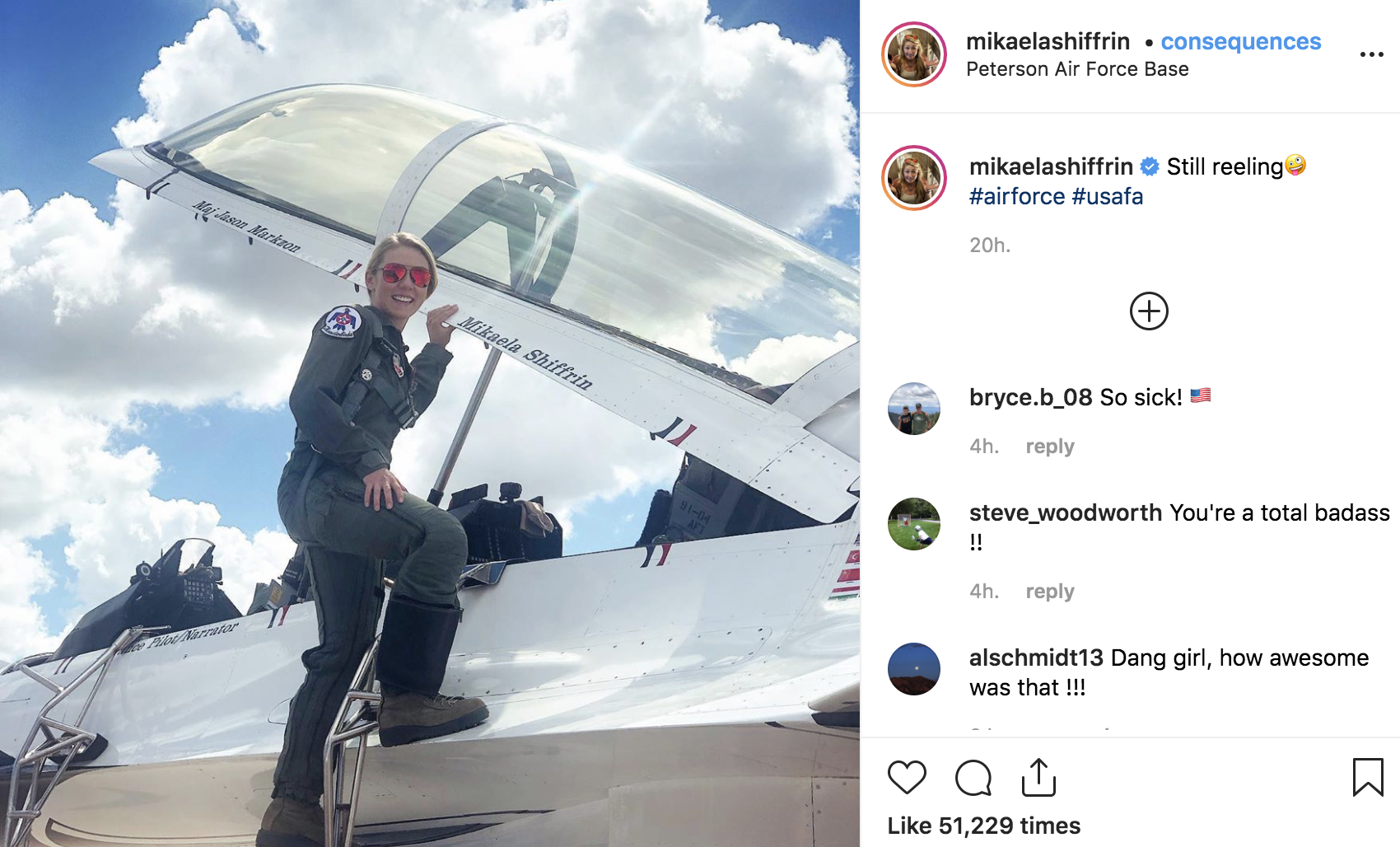 Shiffrin Flies Plane