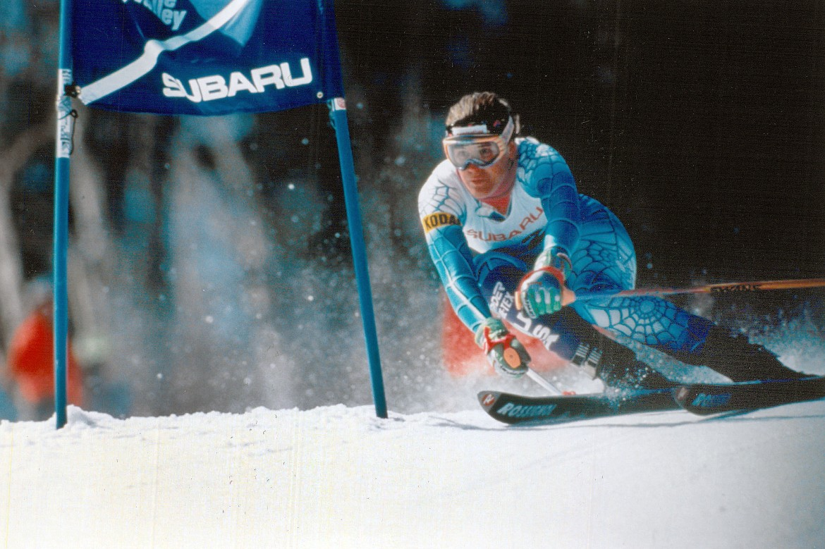 Julie Parisien Skis Giant Slalom at Waterville Valley in 1991