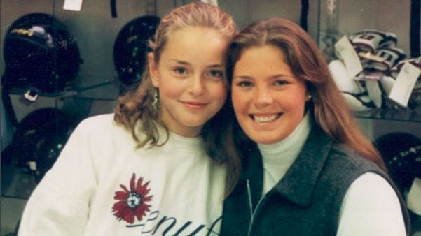 A young Lindsey Vonn (then Kildow) meets idol Picabo Street.