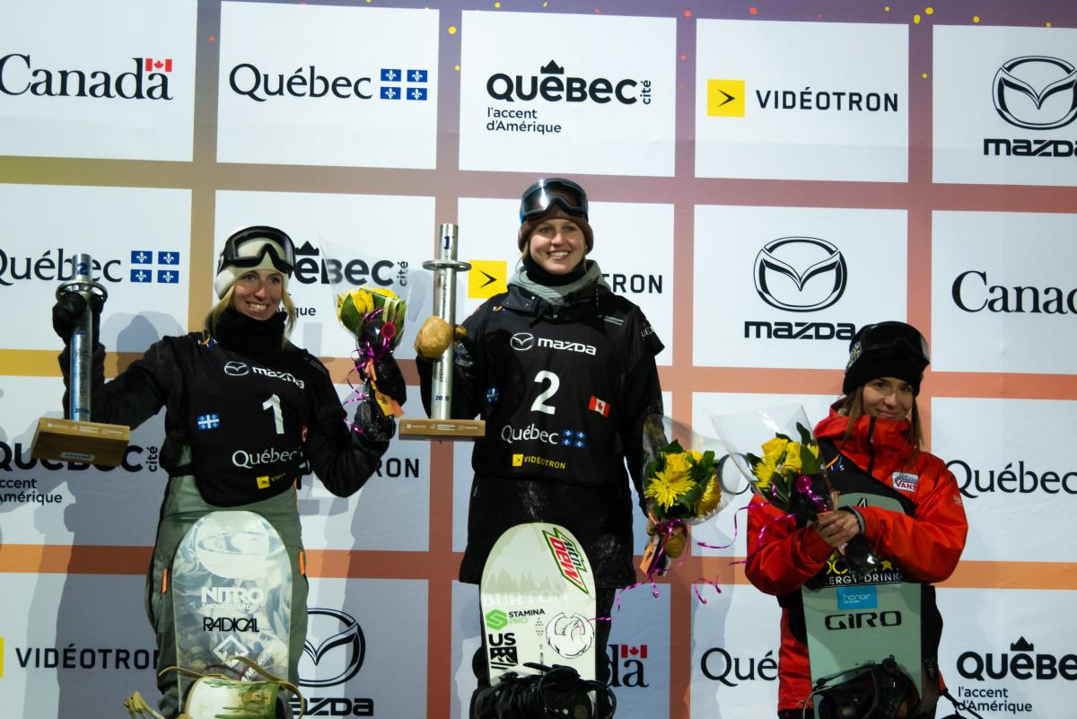 Marino Wins Final Snowboard World Cup in Quebec