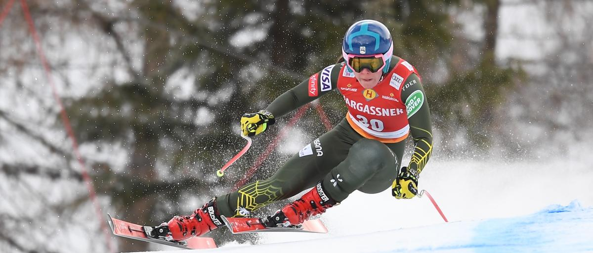 Johnson Returns from Injury to Lead Three into Top 30 in Downhill