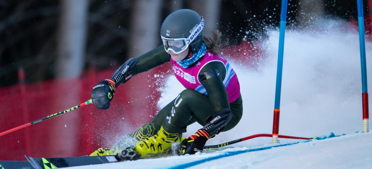 Resnick Leads U.S. in Fourth at YOG Giant Slalom