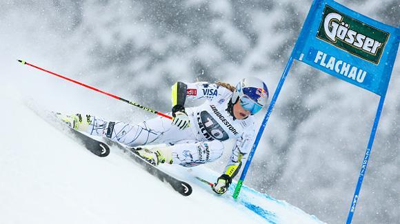 Vonn Stymied in Flachau Giant Slalom