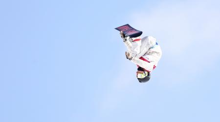 Jamie Anderson jumped to a silver medal in the first Olympic snowboard big air competition at Phoenix Snow Park. (Getty Images - Lars Baron)