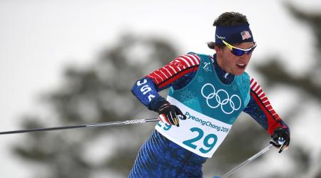 Scott Patterson finished 11th in the men's 50k classic, the final men's cross country event of the 2018 Olympic Winter Games. (Getty Images – Clive Mason)