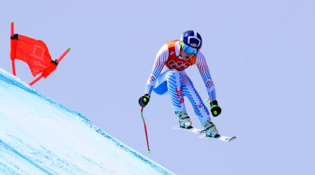 Lindsey Vonn took the downhill bronze medal Wednesday at the 2018 Olympic Winter Games. (Getty Images - Alexander Hassenstein)