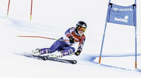 A.J. Hurt won her second national title at the Toyota U.S. Alpine Championships with a victory in the giant slalom Monday. (Oliver Guy Photo @oliverguyphoto)