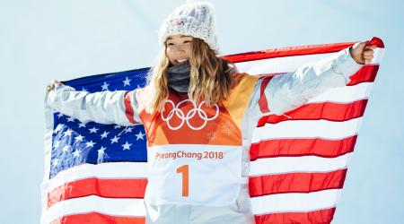 Chloe Kim Olympic Celebration