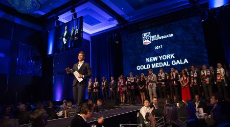Jonny Moseley introduces athletes at last year's New York Gold Medal Gala.