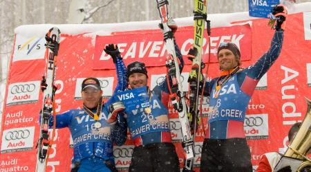 Bode Miller and Steven Nyman Share the Podium at Beaver Creek in 2006