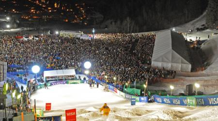A massive crowd packed into Deer Valley Resort in 2010.