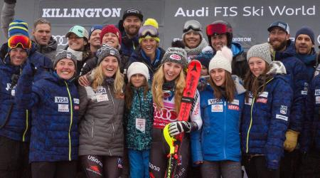 Mikaela Shiffrin Celebrates Killington Slalom Victory