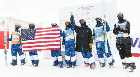 U.S. Wins Moguls Nations Cup